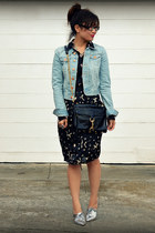 Zara loafers - H&M jacket - H&M shirt - Rebecca Minkoff bag - random skirt