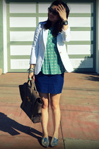 Zara shoes - Zara blazer - Anthropologie top - f21 skirt