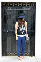 Forever 21 hat - foley & corinna bag - H&M sandals - diamond Forever 21 top