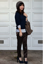 Forever 21 hat - menswear Gap sweater - stripe H&M shirt - 31 Phillip Lim bag