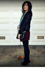 Unknown-jacket-h-m-jacket-asos-boots-everly-dress-rebecca-minkoff-bag