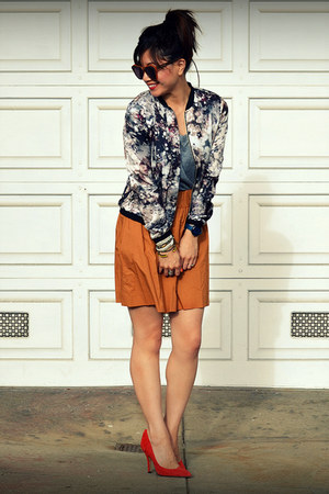 MINUSEY jacket - f21 shirt - JCrew skirt - Gap heels