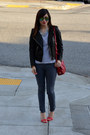 Forever-21-jeans-leather-h-m-jacket-stripe-h-m-shirt-tory-burch-bag