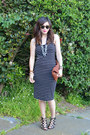 French-connection-dress-clare-vivier-bag-karen-walker-sunglasses