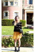 mesh surface to air sweater - balenciaga boots - Rodarte for Target dress