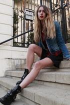 Reformation skirt - balenciaga boots - Zara jacket - Kill City shirt