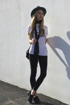 jet black Acne Studios jeans - contrast mm6 hat - jaycee Acne Studios loafers