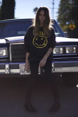 nirvana vintage sweatshirt - Pointer boots - Acne Studios jeans