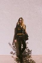 pistol acne boots - rag & bone jeans - suede Zara bag - lucia Super sunglasses
