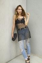 bri bri B-low the Belt belt - ReDone jeans - Collina Strada top