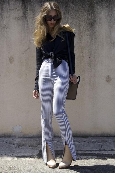 cypress acne boots - Celine sunglasses - Alexander Wang blouse
