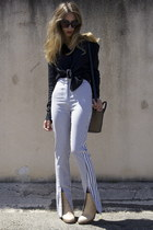 cypress acne boots - Celine sunglasses - Alexander Wang blouse