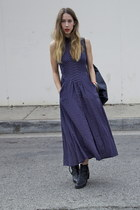 pistol acne boots - maxi Band of Outsiders dress