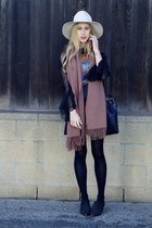 alabaster Clyde hat - canada acne scarf - knit Isabel Marant skirt