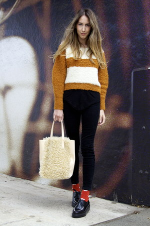 fuzzy Ys by Yohji Yamamoto bag - creepers Robert Clergerie shoes