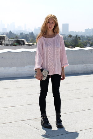 wind down For Love & Lemons sweater - cut out balenciaga boots