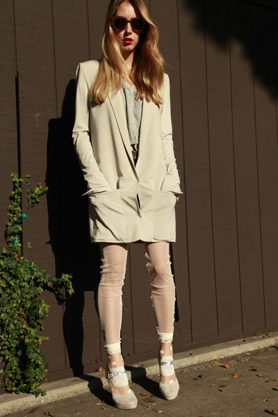 Tsumori Chisato socks - acne blazer - Therese Rawsthorne tights