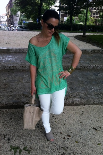 White Zara Pants, Beige MARC CAIN Boots, Lime Green Appeal Donna ...