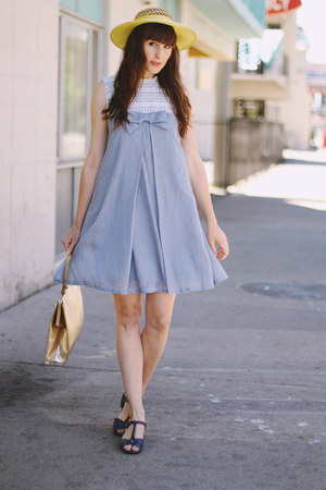 periwinkle chambray dress
