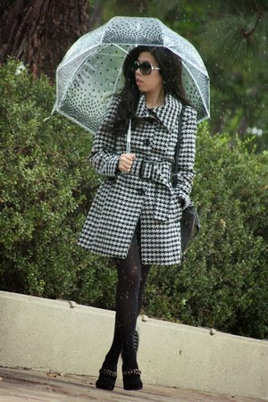 black INC coat - black Wolford tights - black 31 Phillip Lim bag