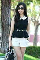 black 31 Phillip Lim bag - beige Forever 21 shorts - black Chanel sunglasses