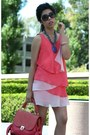 Coral-z-spoke-bag-bubble-gum-dress-black-chanel-sunglasses