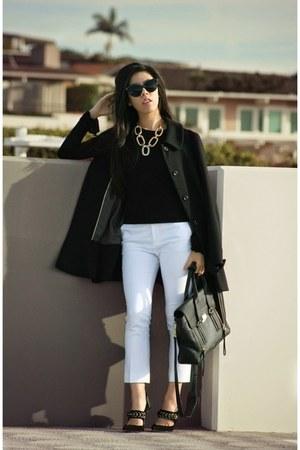 black Zara coat - black 31 Phillip Lim bag - black Chanel sunglasses
