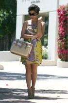 eggshell Reed Krakoff bag - light purple tracy reese dress