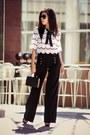 Black-bag-white-sister-jane-top-black-kensie-pretty-pants