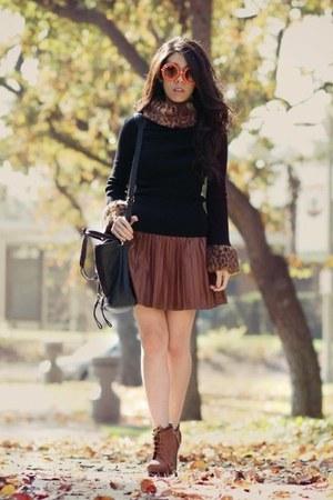 black 31 Phillip Lim bag - tawny Polette sunglasses - dark brown Macys skirt