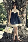 Navy-dress-off-white-reed-krakoff-bag-black-chanel-sunglasses