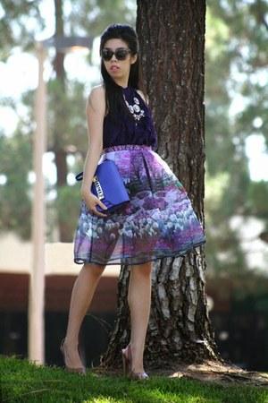pink OASAP necklace - deep purple PROENZA SCHOULER bag