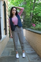 H&M top - See by Chloe vest - vintage pants - shoes - vintage accessories