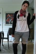 Zara t-shirt - Levi shorts - scarf