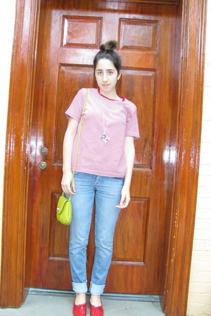 vintage t-shirt - H&M jeans - vintage shoes - H&M purse - necklace