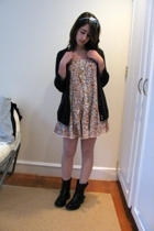 Target dress - H&M sweater - gift necklace - vintage tights - gift accessories