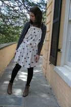 Marc by Marc Jacobs dress - H&M t-shirt - Zara sweater - boots