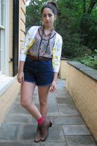 H&M top - vintage sweater - H&M socks - vintage belt