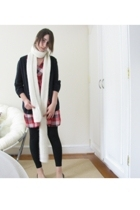 Zara scarf - H&M sweater - H&M dress - American Apparel leggings