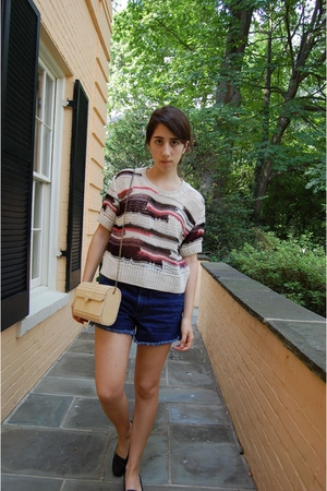 Topshop top - vintage shorts - shoes