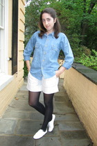 vintage shirt - catherine malandrino shorts - shoes
