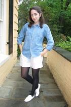 vintage shirt - catherine malandrino shorts - shoes