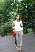 H&M sweater - vintage pants - vintage purse