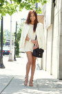 Cream-zara-blazer-silver-marc-by-marc-jacobs-bag