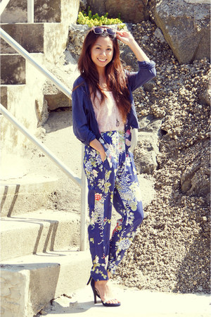navy floral PERSUNMALL pants - black leopard print Charlotte Russe sunglasses