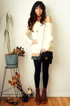 Metropark sweater - Hanes tights - Urban Outfitters bag - Shopbop wedges