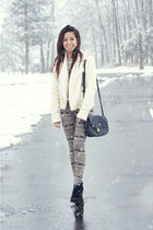 Urban Outfitters jacket - Dolce Vita boots - Forever 21 leggings - vintage bag