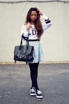 black Nylon Journal tights - white jersey sammydress shirt