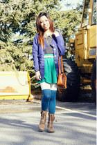 light brown Madden Girl boots - black leopard collar Urban Outfitters shirt