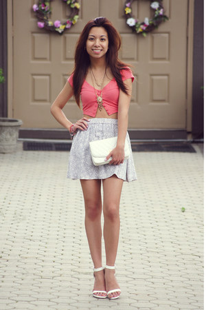 bubble gum paper  tee top - ivory Urban Outfitters skirt